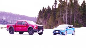 雪地赛道狂飙 福特猛禽/福特福克斯RS