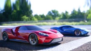 遥控车竞速秀 超跑福特GT上演漂移过弯