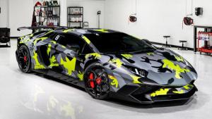 兰博基尼Aventador SV 换装亮黑色轮毂