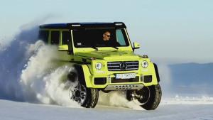 奔驰AMG G500 雪地撒欢秀彪悍越野力