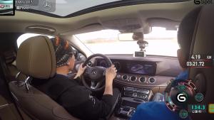 奔驰E320L行政级轿车 110米变线测试