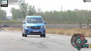 东风启辰M50V 100-0km刹车道路测试