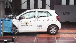 E-NCAP碰撞测试 起亚Picanto获三星