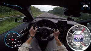 奔驰GLA 45 AMG德国高速极速狂飙!4.4秒破百
