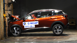 C-NCAP碰撞测试 东风标致4008获5星