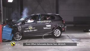 2016款 菲亚特 Tipo 欧盟新车安全评鉴协会 碰撞测试