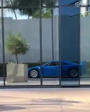 迪拜土豪的蓝色F40,这颜色太美了!