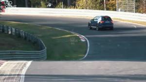 2019款奔驰AMG GLC63 S纽北创造纪录前热身被拍