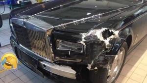 神车的对决 4连号劳斯莱斯幻影被破相 修理费过百万