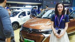 人工智能纯电动北汽新能源EU5 & EX5亮相北京车展