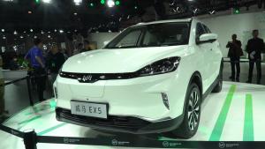 威马汽车首款纯电动汽车EX5实车测评,看起来很美