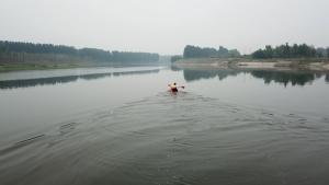 和一辆两驱Jeep指南者去京杭大运河玩皮划艇