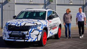 纽北女王驾驶斯柯达科迪亚克RS创7座SUV圈速纪录