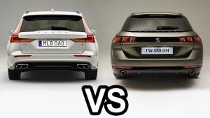 2019标致508 和沃尔沃V60比较,谁是漂亮的不像实力派