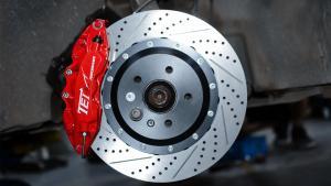 12款奥迪Q5改装TEI Racing前后刹车套