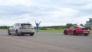Porsche 911 GTS vs Audi RS4  加速 刹车 测试
