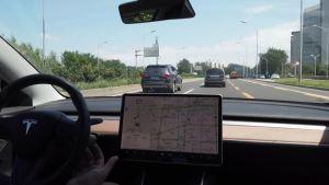 特斯拉model 3自动辅助驾驶体验