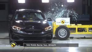 国产宝马参考一下?全新宝马1系欧洲NCAP碰撞测试视频
