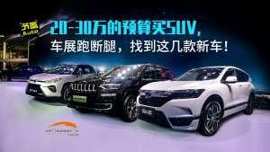 20-30万预算买SUV,车展跑断腿,找到这几款新车!