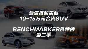 10~15万元最值得购买的合资SUV丨Benchmarker推荐榜