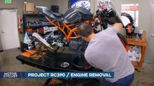 KTM RC390发动机拆卸延时视频