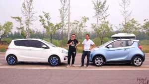 长安奔奔EV对比奇瑞eQ1,廉价微型电动汽车趣味评测