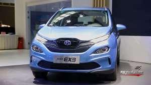 A0级跨界纯电SUV北汽新能源EX3高能上市