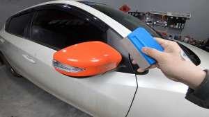 教你如何自己动手,给汽车后视镜贴改色膜,新手也能做好!