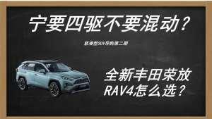 宁要四驱不要混动 丰田荣放RAV4怎么买最合适?