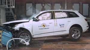 豪华SUV安全吗?宝马X5和奥迪Q7碰撞对比