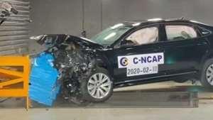 帕萨特中汽研碰撞测试全过程  你相信帕萨特的安全性能了吗