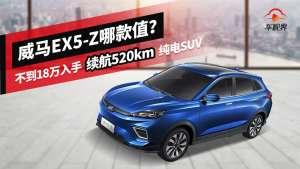 不到18万入手续航520km纯电SUV,威马EX5-Z哪款值