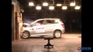 北汽E系列手动版 碰撞测试仅获两星