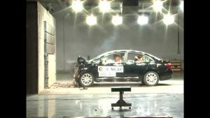 长城C50 C-NCAP安全测试 正面碰撞