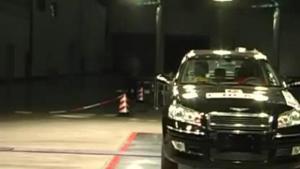 奇瑞瑞麒G5 C-NCAP安全测试侧面碰撞