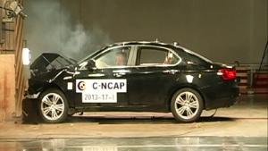 北汽绅宝C-NCAP安全测试 正面碰撞