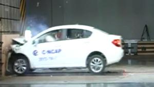 中华H230 C-NCAP安全测试正面碰撞
