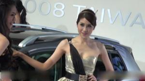 2014台北新车展 标致2008携群模出展