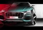 奥迪Q8曝光车头设计图 6月5日首发亮相/定位大型轿跑SUV