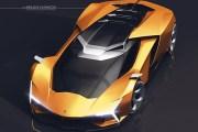 兰博基尼Concepto X渲染图 设计凶悍成熟度高
