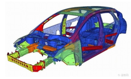 新福克斯全车采用了大量高强度钢材