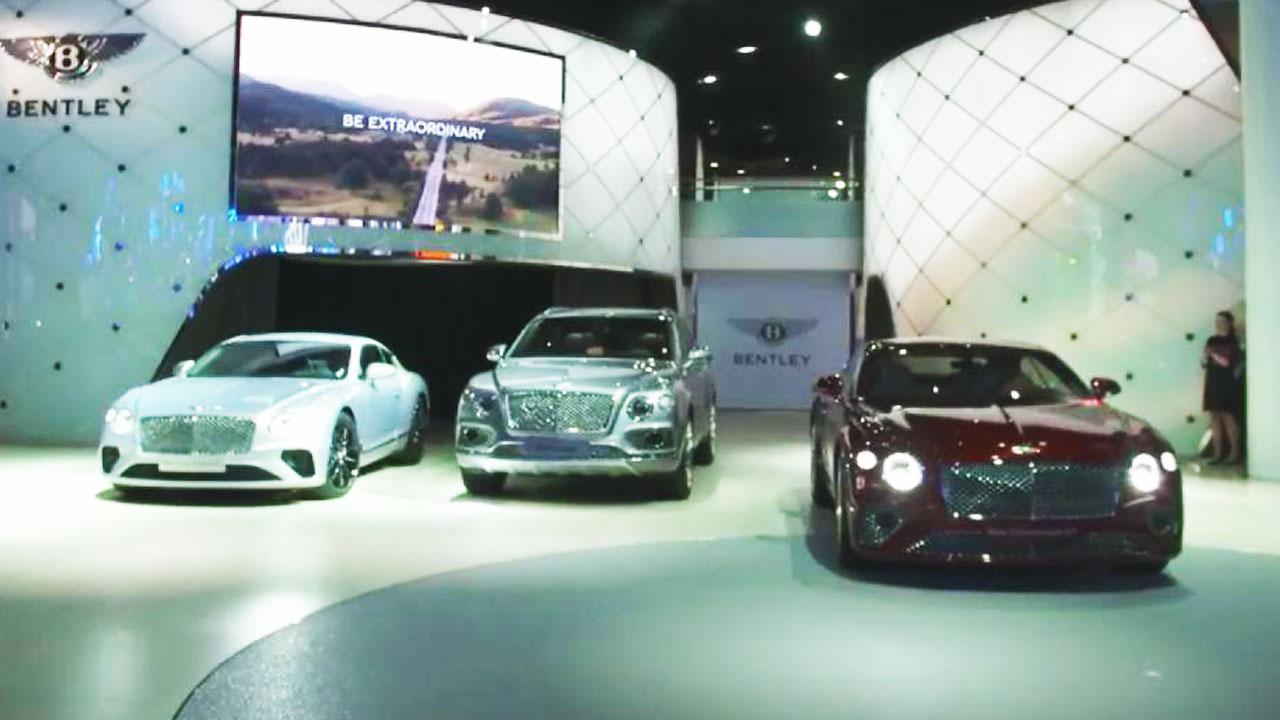 2017法兰克福车展 宾利展台豪华阵容