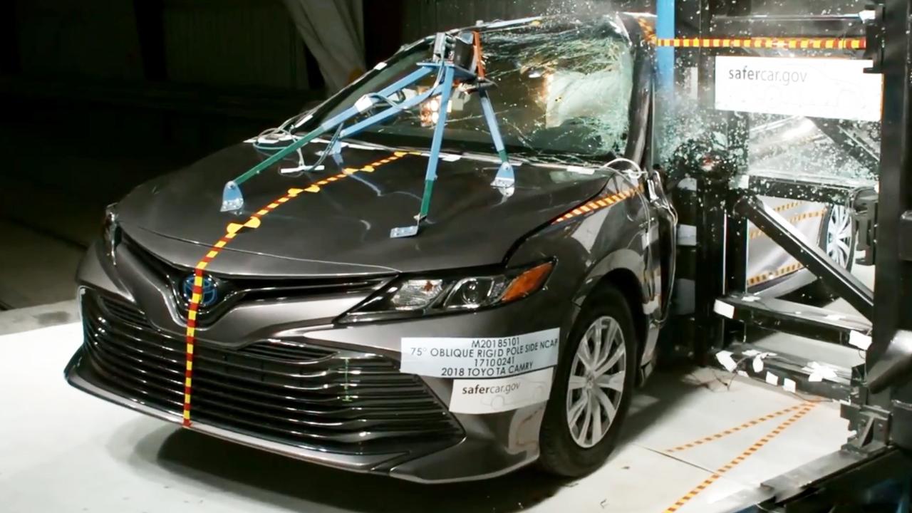 2018款丰田凯美瑞 NHTSA侧杆碰撞测试-进口丰田汽车报价 图片 2017高清图片